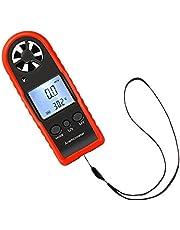 Anemometro Digital Profesional Medidor de Velocidad y Temperatura del Viento Medidor de Volumen de Aire