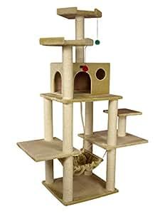 Armarkat A7202 72-Inch Cat Tree, Beige