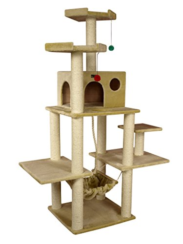 Cat Wood Condo (Armarkat A7202 72-Inch Cat Tree, Beige)