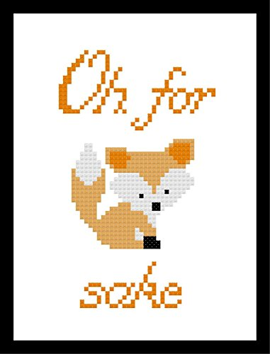 Counted Cross Stitch Kit. Oh for fox sake. by Sew Irreverent