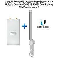 Ubiquiti RocketM5 Outdoor BaseStation X 1 + Omni AMO-5G13 13dBi Dual Antenna X 1