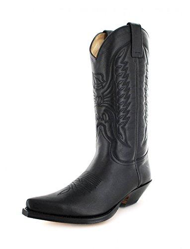 Sendra Boots Stiefel 2073 / Sendra Boots Cowboystiefel / Sendra Boots Westernstiefel Pull Negro