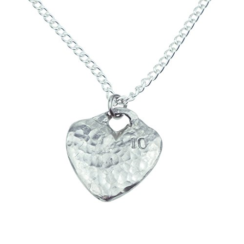 10th Anniversary Tin Gift Heart Pendant