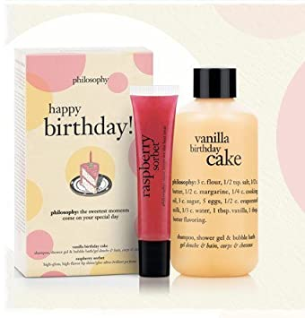Image Unavailable Not Available For Color Philosophy Happy Birthday Shower Gel Lip Shine Gift Set