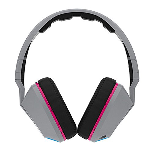 Skullcandy Crusher Headphones with Built-in Amplifier and Mic, Grey Cyan and Black