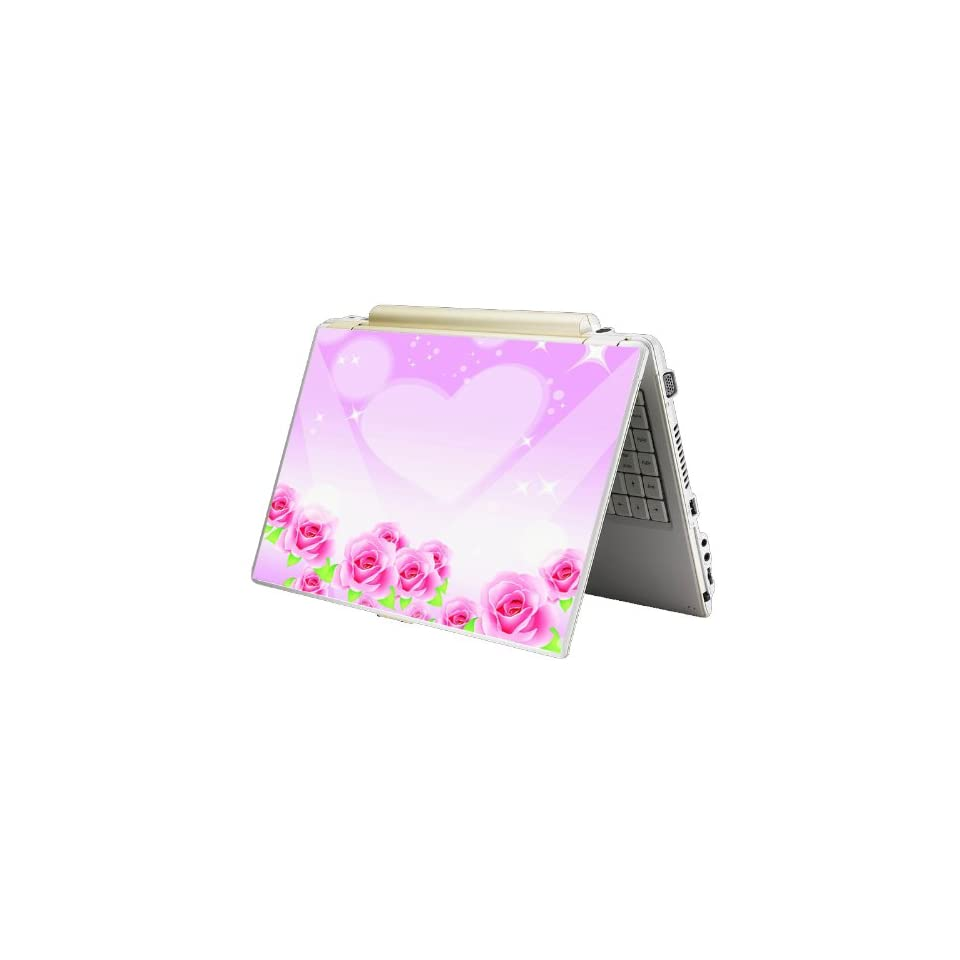 Bundle Monster Laptop Notebook Skin Sticker Cover Art Decal   12 14 15   Fit HP Dell Asus Compaq   Pink Rose Heart