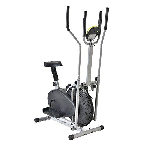 New Elliptical Bike 2 IN 1 Cross Trainer Exercise Fitness Machine Upgraded Model