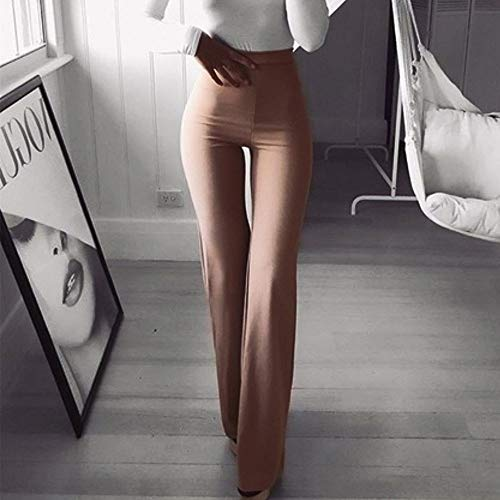 kz6 Unita Tinta Svasati Mambain Elastici vita Da Pantaloni Donna Eleganti Alta Khaki Pantalone qxxBFCP