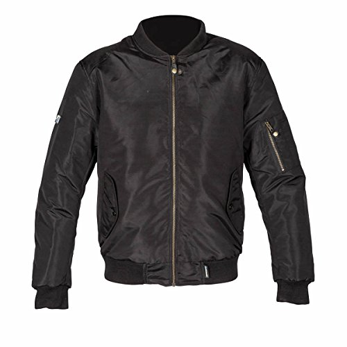 Spada Airforce One Double Stitched Motorcycle Motorbike Jacket - Black L