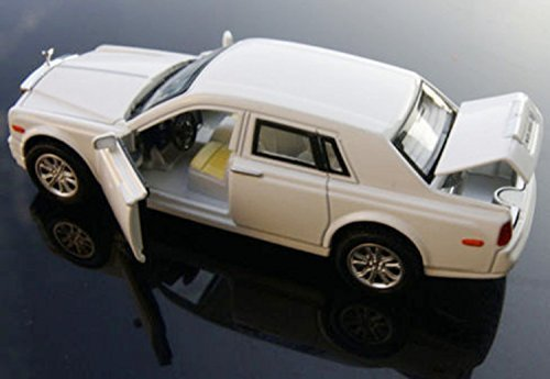 1:32 Scale White Rolls-Royce Phantom Alloy Diecast Car Model Collection Pull Back with Sound&Light Simulation Model Toy Gift for Kids Children (Rolls Royce Model compare prices)
