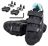 tommaso Terra 100 Women's Indoor Cycling Ready, MTB, Road Shoe, with Compatible SPD Cleat - Black/Teal - 38
