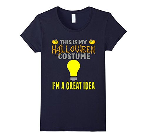 Clever Halloween Costumes Idea (Womens Halloween Costume Great Idea Shirt XL Navy)