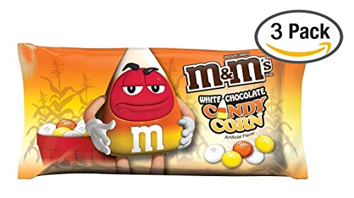 M&Ms Candy Corn White Chocolate Candies, 3 Bags @ 8 Oz Each Bag