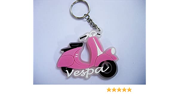 Keychains – Vespa Scooter – Pink – Italy – Moto – Scooter – Puerta llaves – Rubber Llavero