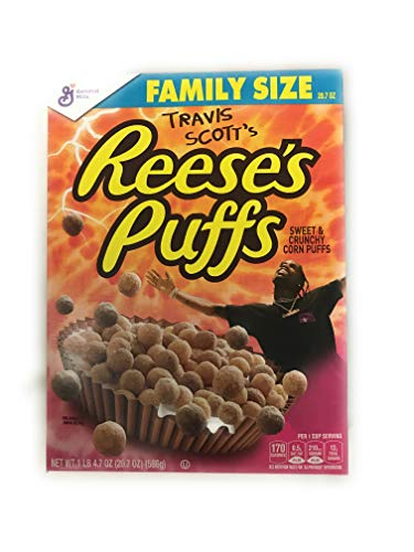 Travis Scott Cactus Jack Reeses Puffs Cereal Box Family Size Memorabilia Collectors Addition RARE SOLD OUT EVERYWHERE (586 gramm)