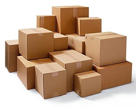 50 Caja de cartón plegable 2 ondulaciones del paquete Cajas de Cartón 300 * 200 * 900: Amazon.es: Oficina y papelería