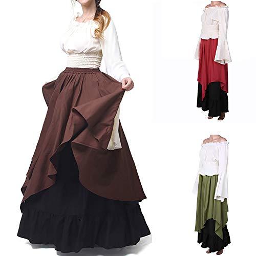 gainvictorlf Vintage Women Dress Medieval Renaissance Off Shoulder
