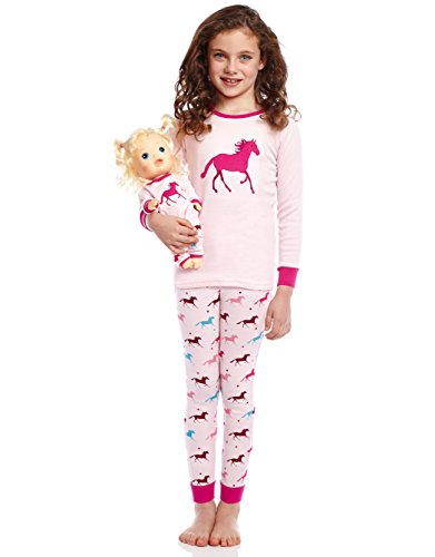 Leveret Horse Matching Doll & Girl 2 Piece Pajama Set 100% Cotton 8 Years by Leveret (Image #1)