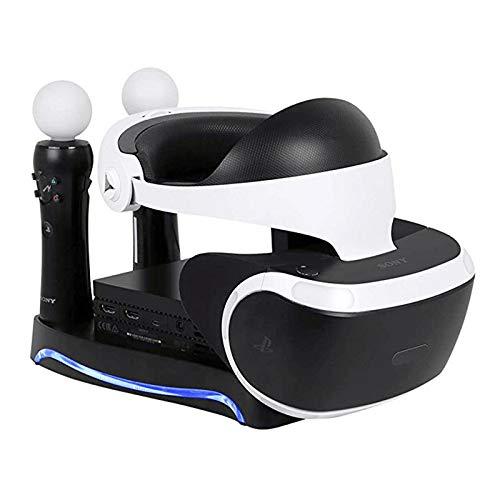 Lanlan 4 en 1 PS4 PS Move VR Soporte de Almacenamiento de Carga Soporte de Auriculares PSVR para PS VR Move Showcase...