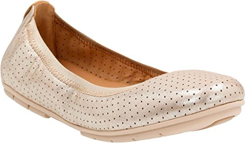 Clarks Women's Un Tract Gold Metallic Leather 8.5 A - Narrow J8EpdzwuX