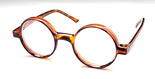 The Cambridge - Iris Style Totally Round Reading Glasses, 2.75, Tortoise by Boomer Eyeware