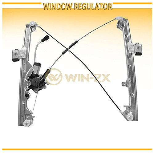 WIN-2X New 1pc Front Passenger Right Side Power Window Regulator With Motor Assembly Fit Chevy/GMC/Cadillac Silverado Sierra Classic Body Suburban Avalanche Tahoe Yukon XL Escalade EXT ESV