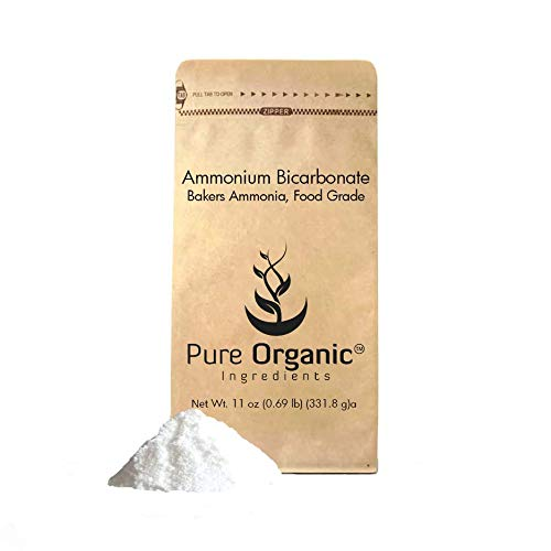 Ammonium Bicarbonate (11 oz.) by Pure Organic Ingredients, Traditional Leavening Agent Used in Flat Baked Goods Such as Cookies or Crackers