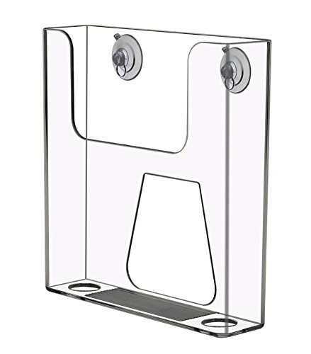 6.5'' Wall mount Counter top Brochure Holder with Suction Cups by Marketing Holders