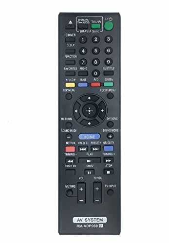 New VINABTY RM-ADP069 Replaced Remote fit for Sony Blu-Ray Disc Player HBD-E580 BDV-N790W HB-DE3100 RM-ADP072 BDV-T58 BDV-T57 HBD-T79 HBD-E280 Audio Vidio System