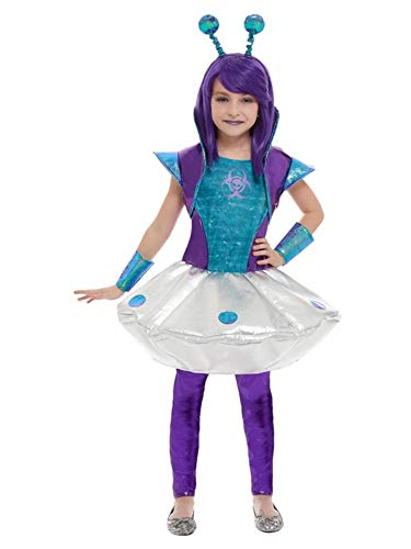 Blue and White Alien Medium Girl Halloween Costume]()