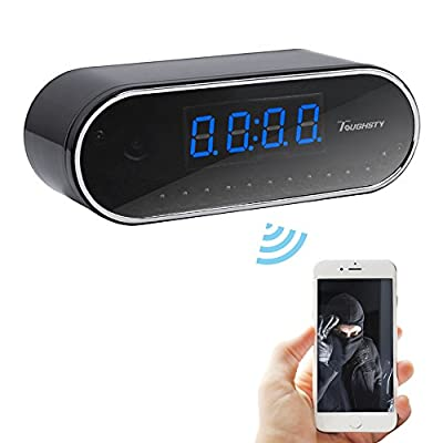 Toughsty™ 1280x720P HD P2P Wifi Hidden Camera Clock Video Recorder Indoor DV Camcorder IR Night Vision Support IOS Android APP Remote View