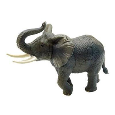 ARTKAL Assorted 4pcs/Set of 3D Jungle Animals Kits Puzzles DIY Tiger Rhino Elephant Lion Models Kids Educational Toy 3666: Toys & Games
