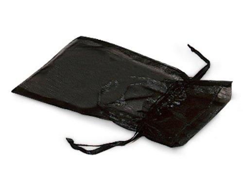 BLACK Organza Bags 3x4''with Satin Drawstrings 25 unit, 10 pack per unit.