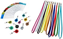 This is the best color Badge Holders we have picked out for you.Buy This ID Card Holder with Lanyard Set You Will Get All!!!Key Features *ID Lanyard,Badge Holder and ID Badge Protector 3 in 1 set. *The clear zipper top keeps out dirt and mois...