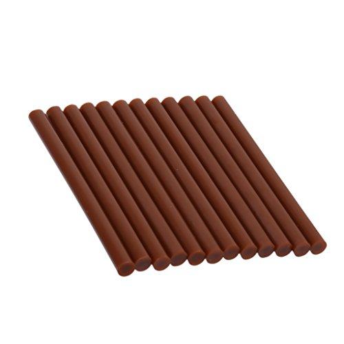 12x Pdr Toolds Schmelzkleber Klebstoff Hart Beule Haarverlängerung Braun-Sticks Braun