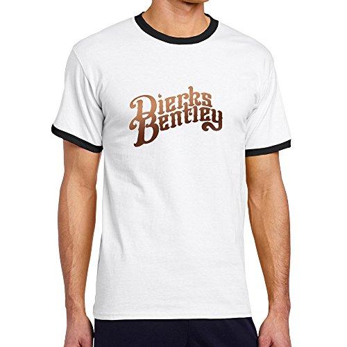 LXQL1 Dierks Bentley Logo Black Contrast Color T-shirt For Men - - Serial List Color