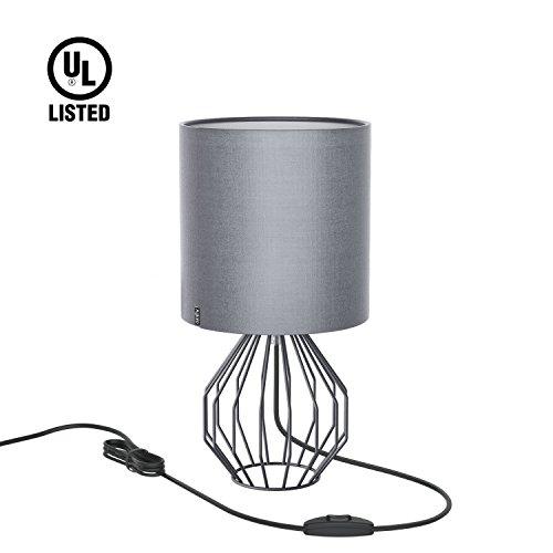 Cheap  Table Lamp, Bedside Minimalist Fabric Desk Lamp, Aglaia Modern Silver Chrome Metal..