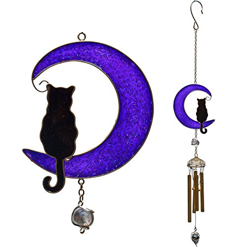 Cat on the Moon Wind Chime