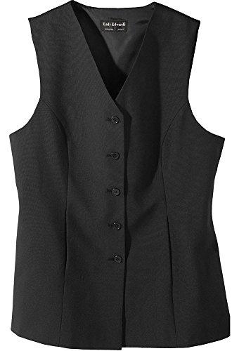 Tunic Length Vest - Ed Garments Women's Sleeveless Long Length Tunic Vest, BLACK, X-Large