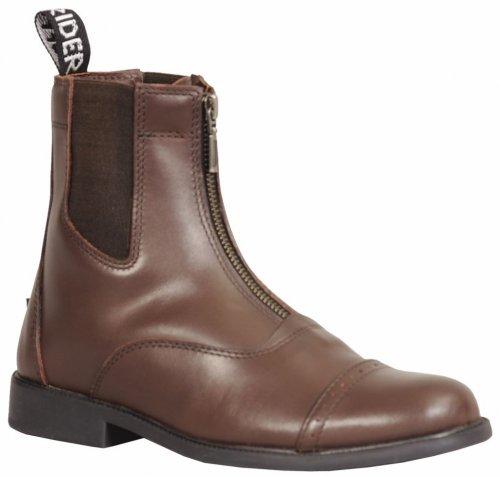 Zipper Baroque Women's Mocha TuffRider Paddock Metal Zip Boots with Front 8RxHw5qH