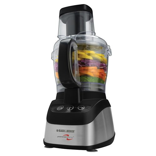Black & Decker FP2620S Wide-Mouth Food Processor & Blender, Black/Silver