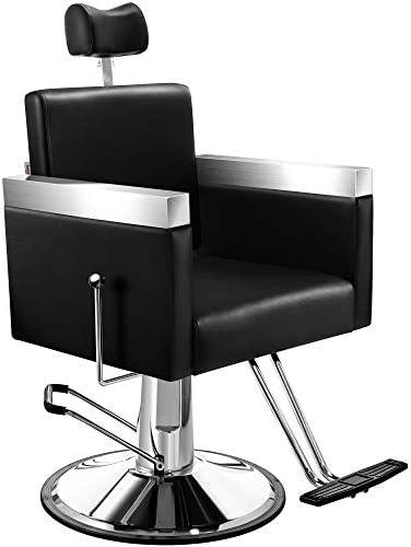 Baasha Hydraulic Barber Chair Reclining Salon Chair Beauty Styling Chair, Heavy Duty Tatoo Chair Hair Cutting Chair Shampoo Chair Salon Equipment