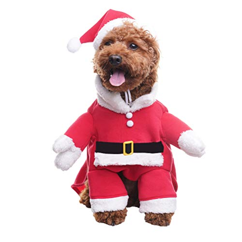 BINGPET Dog Christmas Costumes with Santa Claus Hat Pet Clothes Suit Xmas Outfits  Hoodies for Dogs Puppy Cats Cosplay Holiday Large 3f5f6e1d1