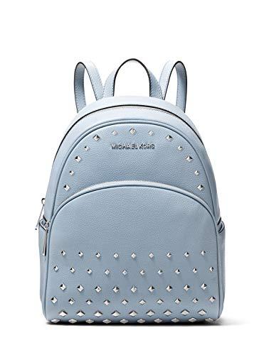 Michael Kors Abbey Medium Studded Pebbled Leather Backpack - Pale Blue