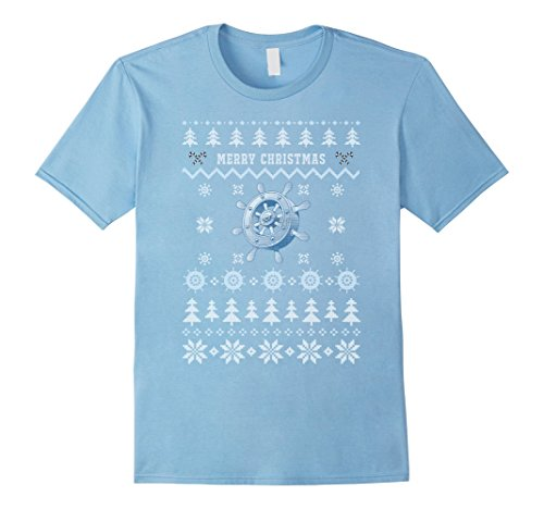Men's Nautical Ship's Wheel Ugly Christmas Sweater T-Shirt