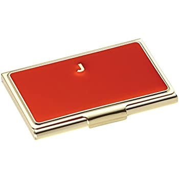 kate spade new york initial business card holders j red - Kate Spade Business Card Holder