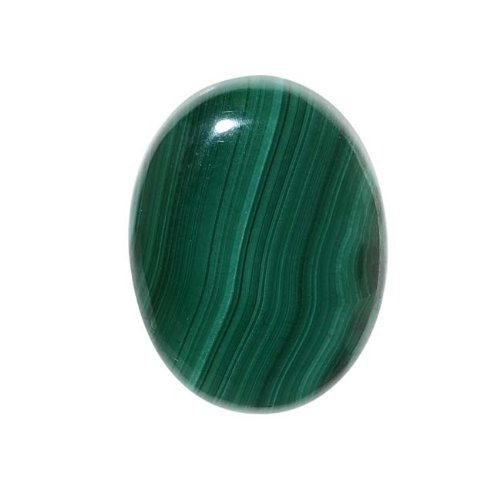 Beadaholique Malachite Gemstone Oval Flat-Back Cabochons 25x18mm (1 Piece) ()