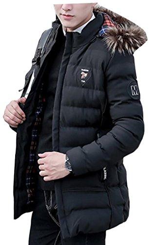 Inverno Cappotto Pelliccia Giacca Cappuccio Degli Di 1 Collo Outwear Uomini Di Down Generici 4UwqfwB