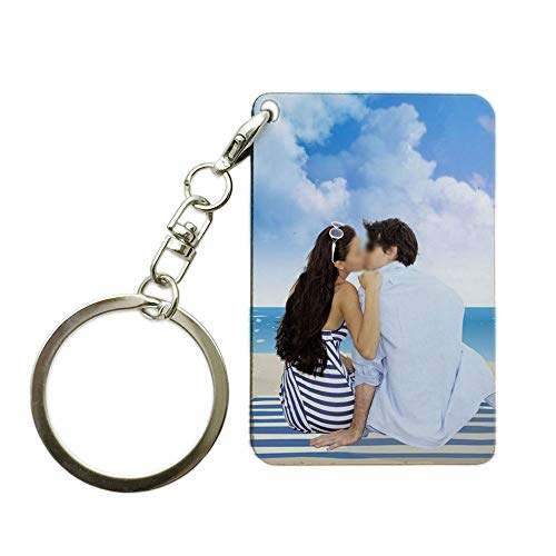 1.6×2.4ich Personalized Custom Keychain Print Logo Photo Picture Key Chains Holder 4×6cm]()