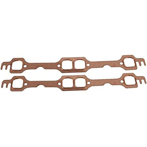 Small Block Chevy Copper Exhaust Gasket - D-Port Heads (Chevy Header Block Gaskets Small)
